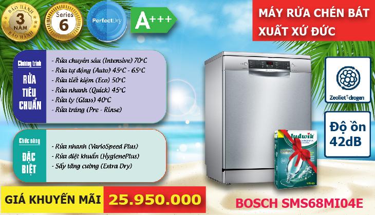 Khuyến mãi máy rửa chén Bosch