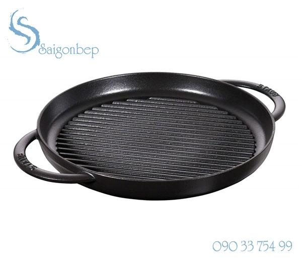 Chảo gang Staub Pure Grill Black 26