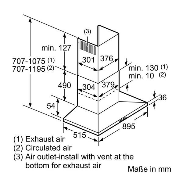 Máy hút mùi Bosch DEE928BSG