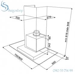 Máy hút mùi Teka DG3-70 Glass